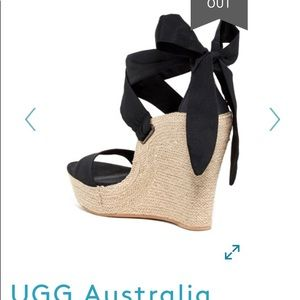 40eacb7b87e Ugg Australia Black Suede Lucy Wedge size 5